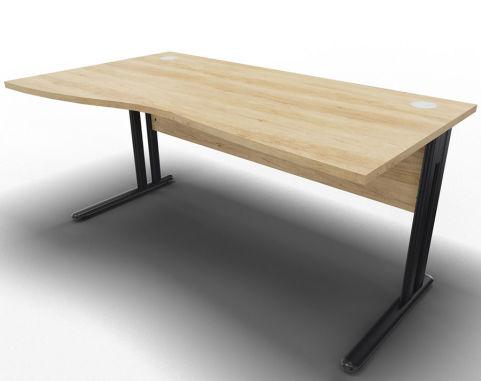 Optimize Left Wave Desk Nebraska Oak