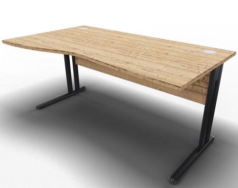 Optimize Left Wave Desk Timber