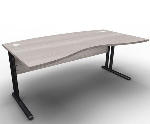 Optimize Managers Double Wave Desk Cedar