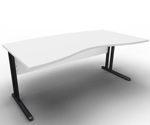 Optimize Managers Double Wave Desk Light Grey