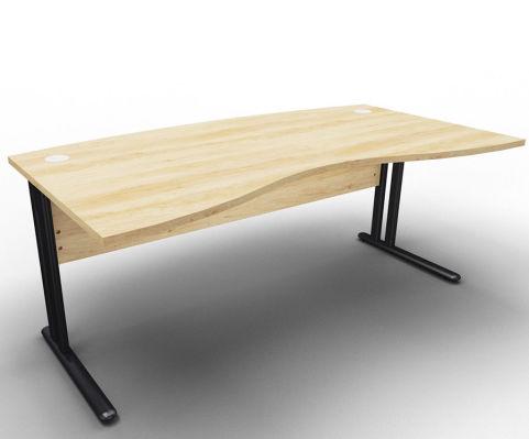 Optimize Managers Double Wave Desk Nebraska Oak