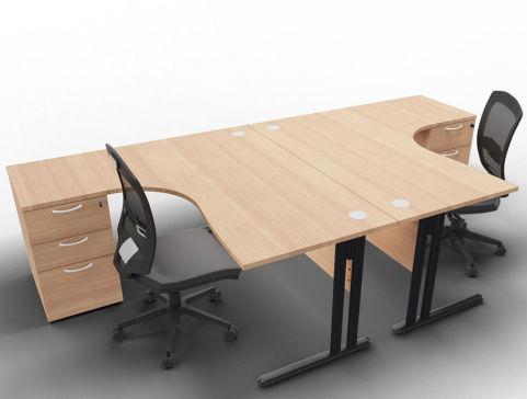 Optimize 2 Corner Desks And Peds Havana