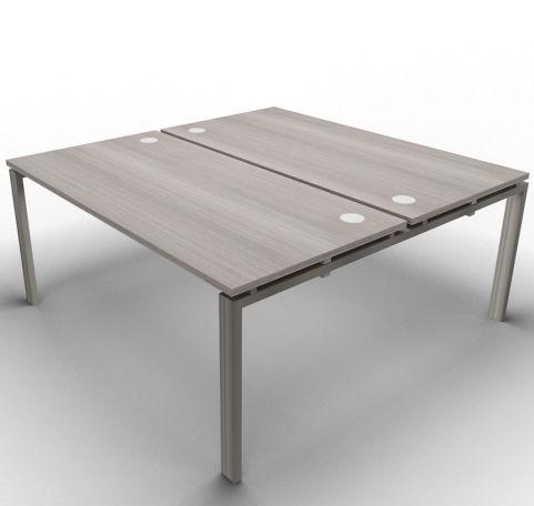 Saturn 2 Person Desk Cedar Raw