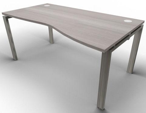 Saturn Single Wave Desk Cedar Raw
