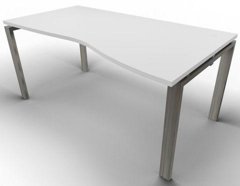 Saturn Single Wave Desk Light Grey Raw