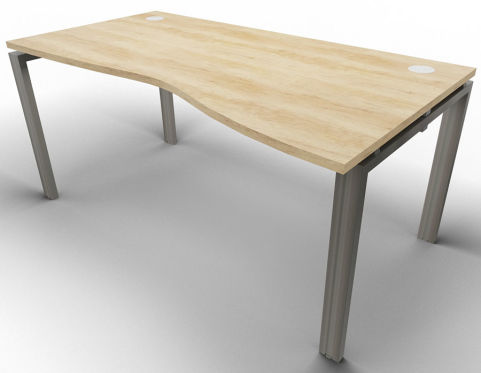 Saturn Single Wave Desk Nebraska Oak Raw