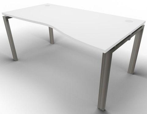 Saturn Single Wave Desk White Raw