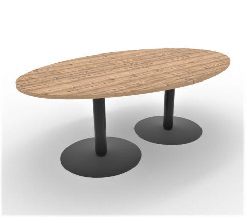 Optimize Barrel Shaped Table Timber Finish