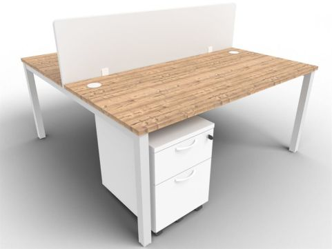 Buro Bench Two Person Bench And Screen Package Deal Timber
