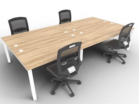 Buro Four Person Bench Desks Nebraska Mood View