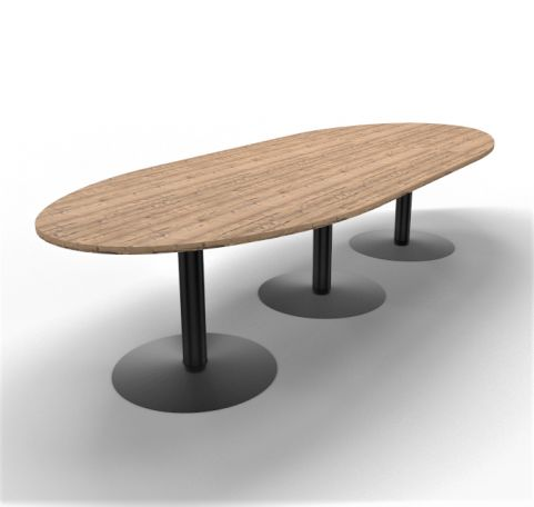 Optimize Barrel Shaped Table Timber Finish Large 01