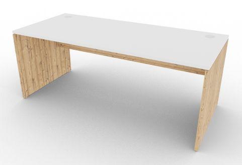 Oslo Rectangular Desk White And Timber