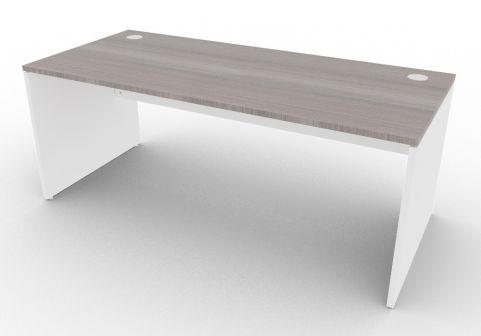 Oslo Rectangular Desk Cedar And White 1800mm