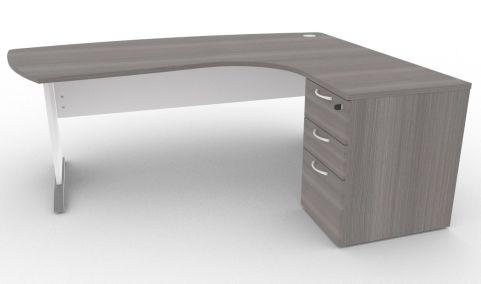 Oslo Manager Corner Desk And Pedestal Cedar