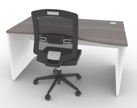 Oslo Left Hand Wave Desk Cedar And White And Mood View