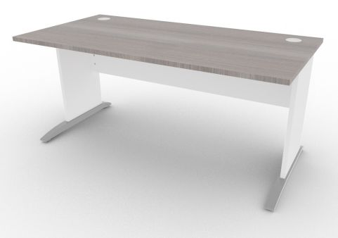 Oslo Rectangular Cantilever Frame Desk Cedar And White 1600mm