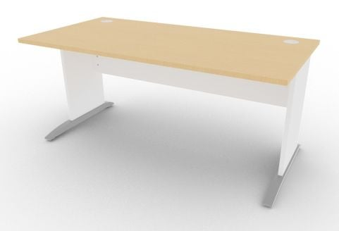 Oslo Rectangular Cantilever Frame Desk Beech And White