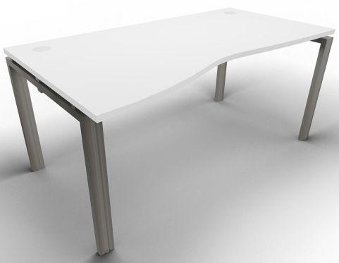 Saturn Single Left Hand Wave Desk White Raw