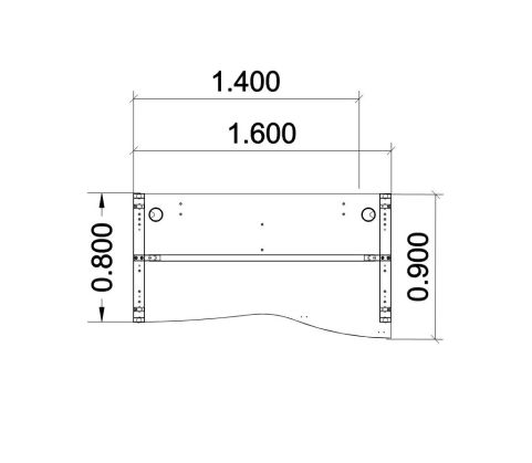 Single Wave Left Hand Dimension Desk