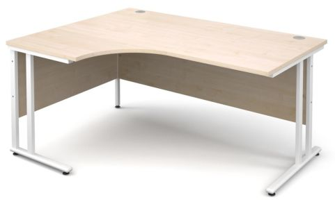 GM Corner Desk Maple With White Frame