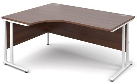 GM Corner Desk Walnut With White Frame