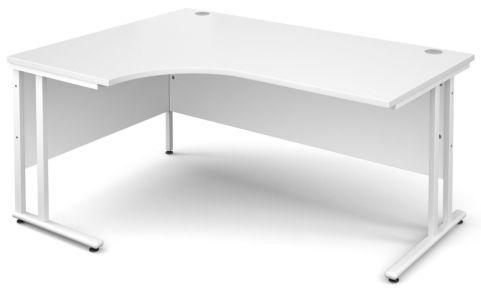 Gm Corner Desk White With White Frame