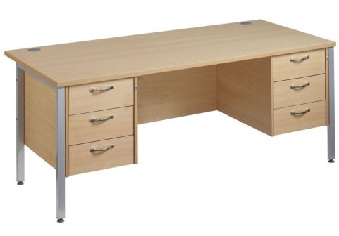 GM H Frame Double Pedestal With Three Drawer Sets