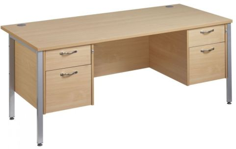 Gm Double Ped Desk Two Drawers