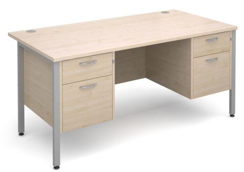 Gm Double Ped Desk Maple