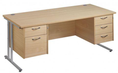 GM Rectangular Desk 2 And 3 Drawers