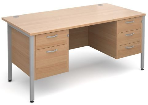 GM H Frame 2 And 3 Drawer Beech With Silver Frame
