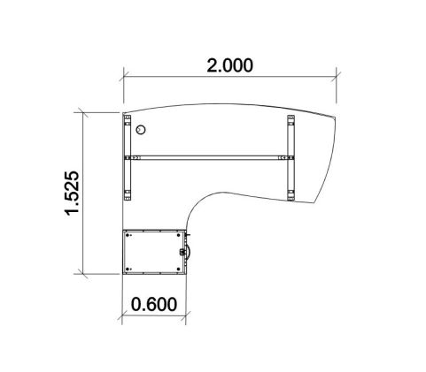 Saturn Compact Managers Desk Dimensions