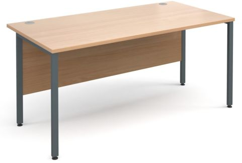 GM Desk H Frame Beech With Graphite Frame