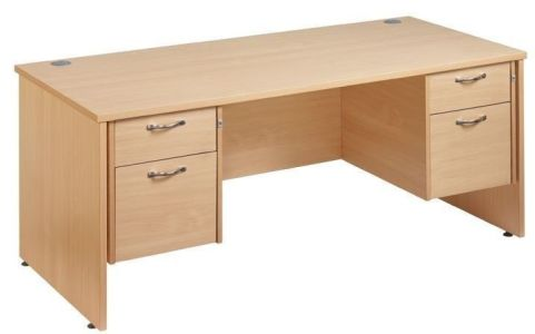 GM Double Pedestal Panel Desk Two Drawer