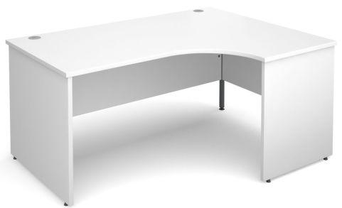 GM Right Hand Corner Panel Desk White