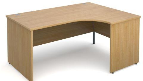 GM Right Hand Corner Panel Desk Oak