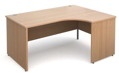 GM Right Hand Corner Panel Desk Beech