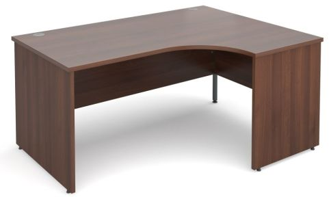 GM Right Hand Corner Panel Desk Walnut