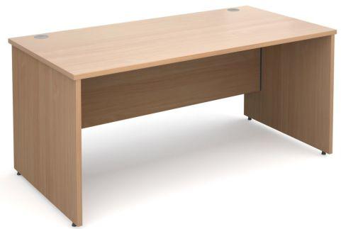GM Panel Side Desk White Beech