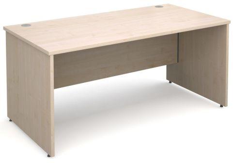 GM Panel Side Desk White Maple