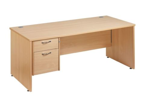 GM Panel Desk And Two Drawer Pedestal