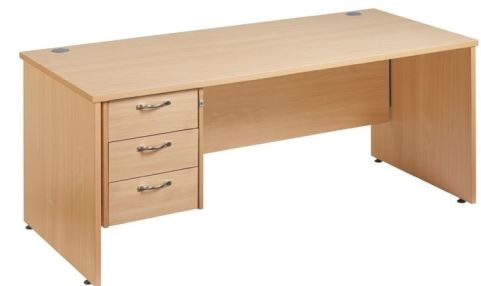 Gm Panel Desk With Three Drawers