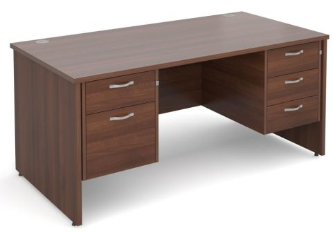 GM Side Panel Desk 2 And 3 Drawers Walnut