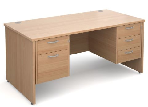 GM Side Panel Desk 2 And 3 Drawers Beech