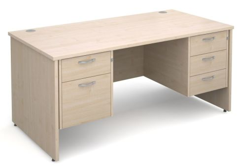 GM Side Panel Desk 2 And 3 Drawers Maple