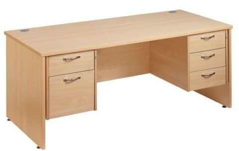 GM Side Panel Desk 2 And 3 Drawers Set