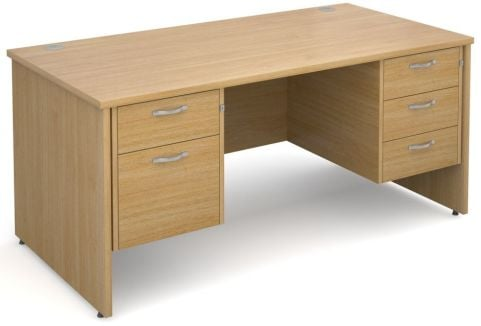 GM Side Panel Desk 2 And 3 Drawers Oak
