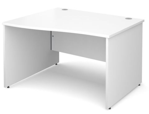 GM Left Hand Wave Panel Desk White