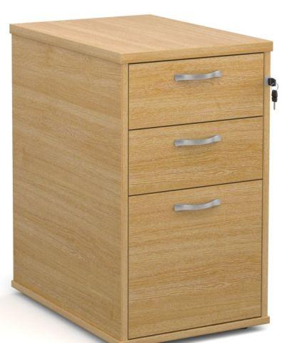 GM Desk Height Pedestal Oak