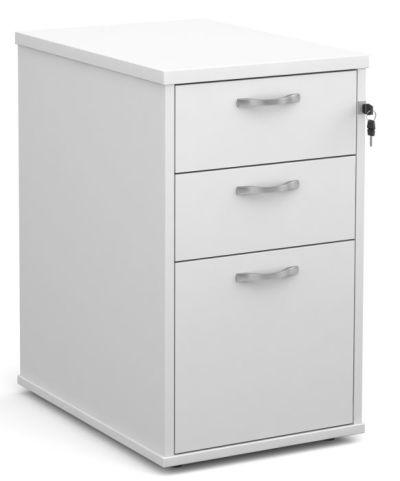 GM Desk Height Pedestal White